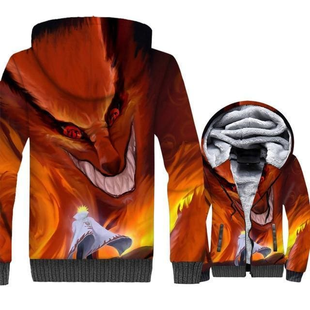 Naruto Clothing - Evil 3D Fleece Jacket - Anime Clothes