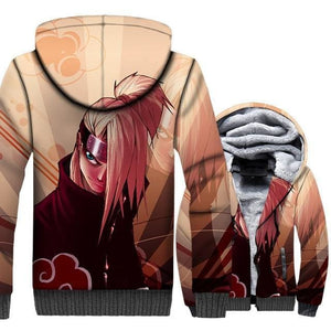Naruto Clothing - Female Warrior Fleece Jacket - Anime Clothes