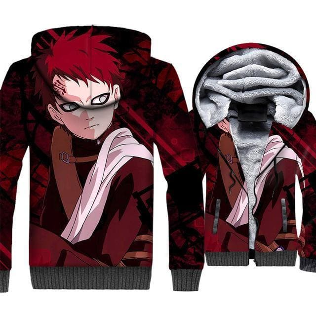 Naruto Clothing - Gaara Fleece Jacket - Anime Clothes