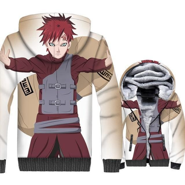 Naruto Clothing - Gaara Stance Fleece Jacket - Anime Clothes