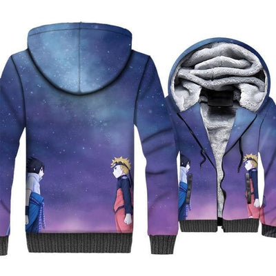 Naruto Clothing - Naruto Sasuke Fleece Jacket - Anime Clothes