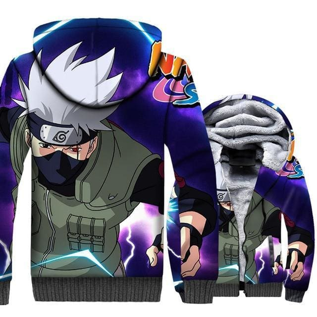 Naruto Clothing - Sasuke Fleece Jacket - Anime Clothes