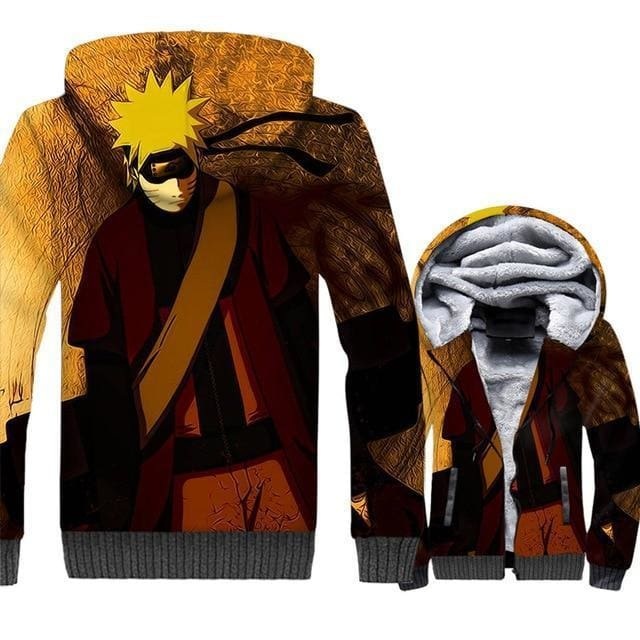 Naruto Clothing - Uzumaki 3D Fleece Jacket - Anime Clothes