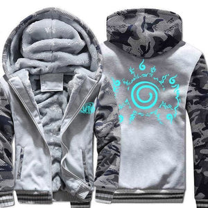 Naruto Clothing - Uzumaki Camo Jacket - Anime Clothes