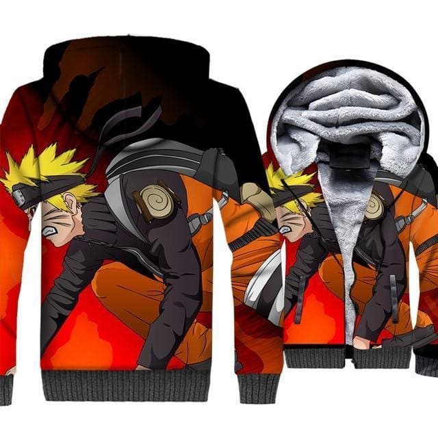 Naruto Clothing - Uzumaki Warrior Fleece Jacket - Anime Clothes