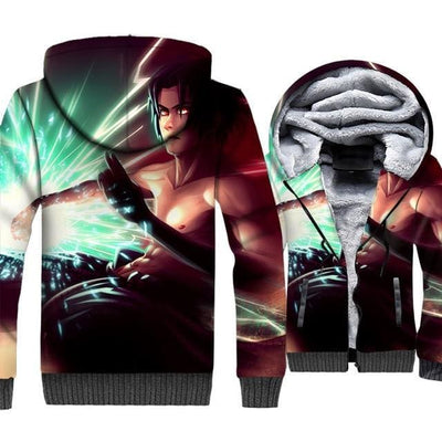 Naruto Clothing - Warrior 3D Fleece Jacket - Anime Clothes