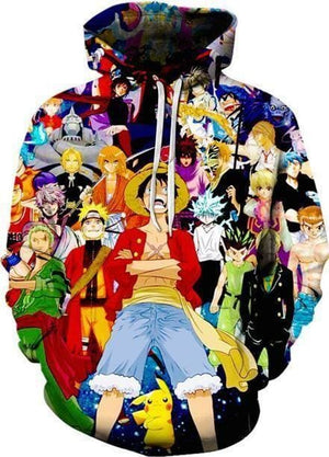 One Piece Anime - Luffy And Characters - Cool Hoodies