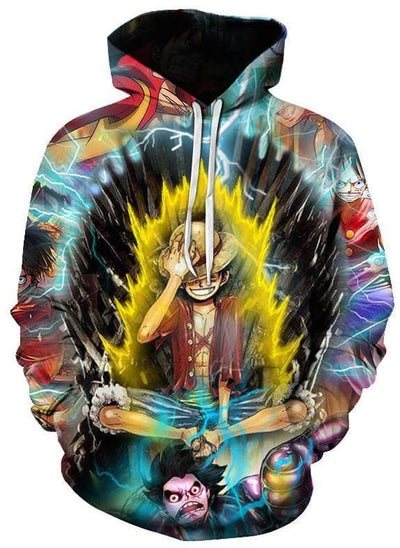 One Piece Anime - Luffy Glowing - Anime Hoodies