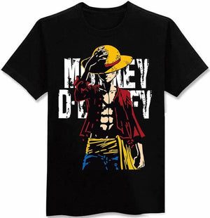 One Piece Anime - Luffy Hat Shirt - Anime Clothing