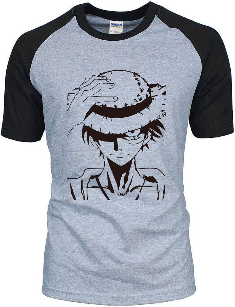 One Piece Anime - Luffy Lifting Hat Shirt - Anime Clothing