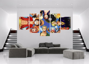 One Piece Poster - Monkey D Luffy Portgas D Ace Nami and Gang - Anime Posters
