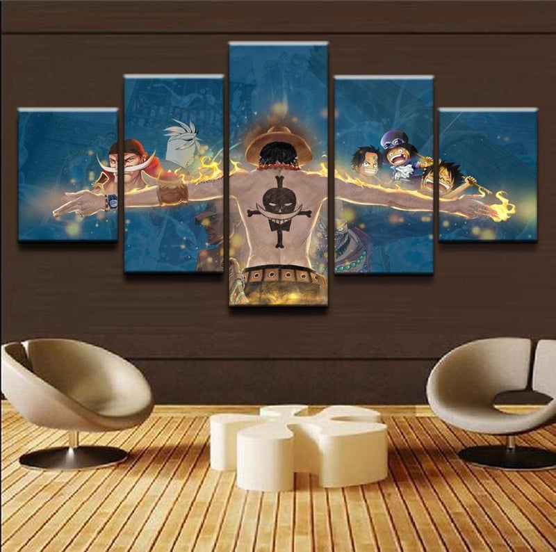 One Piece Poster - Portgas D Ace Arms Spread - Anime Posters