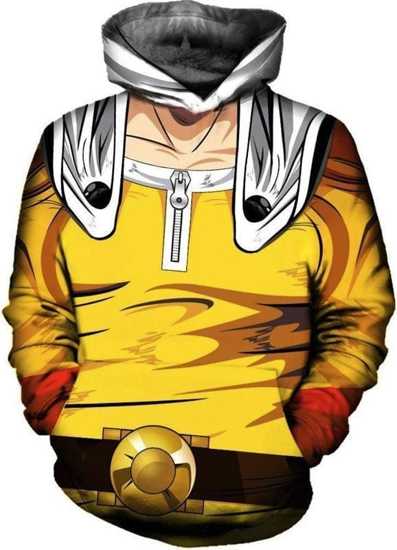 One Punch Man Hoodie - Saitama Fist - Anime Merchandise