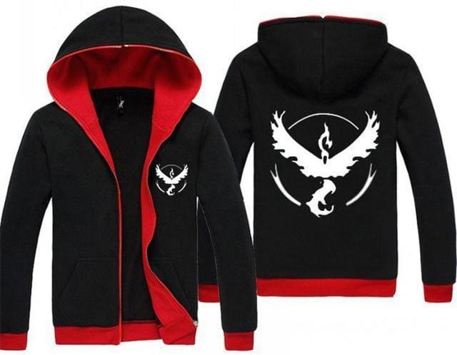 Pokemon Go Hoodie - Team Valor - Anime Clothing