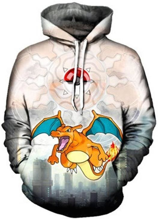 Pokemon Hoodie - 3D Charizard - Anime Clothing