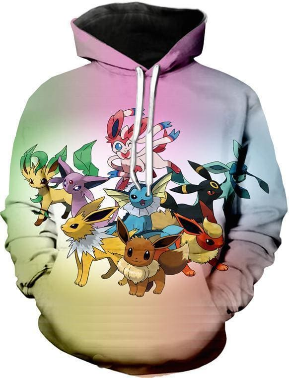 Pokemon Hoodie - Pokemon Characters - Anime Clothing