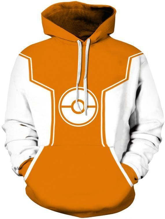 Pokemon Hoodie - Retro Pokeball - Anime Clothing