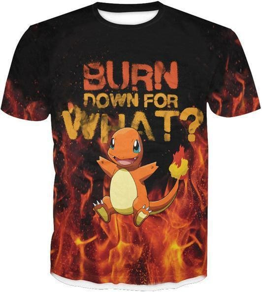 Pokemon Shirts - Charmander - 3D Shirts