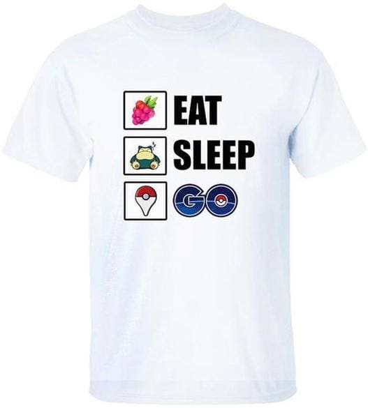 Pokemon T-Shirt - Eat Sleep Go - Anime Clothes