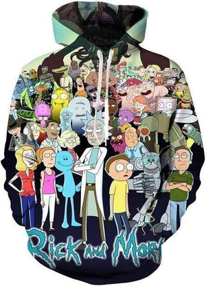 Rick and Morty Hoodie - 3D Characters - Anime Clothes