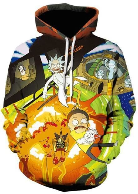 Rick and Morty Hoodie - 3D Pullover - Anime Clothes