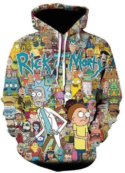 Rick and Morty Hoodie - Characters Design - Anime Clothes