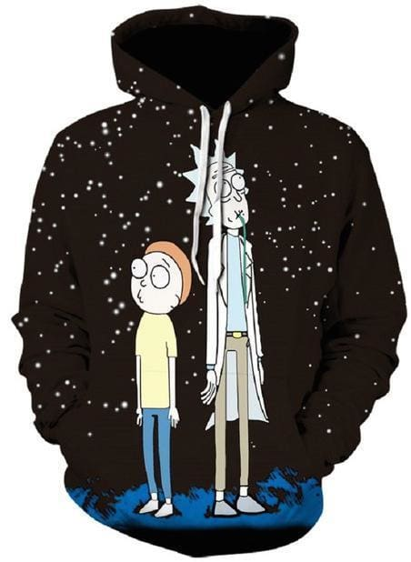 Rick and Morty Hoodie - Gazing At Stars - Anime Clothes