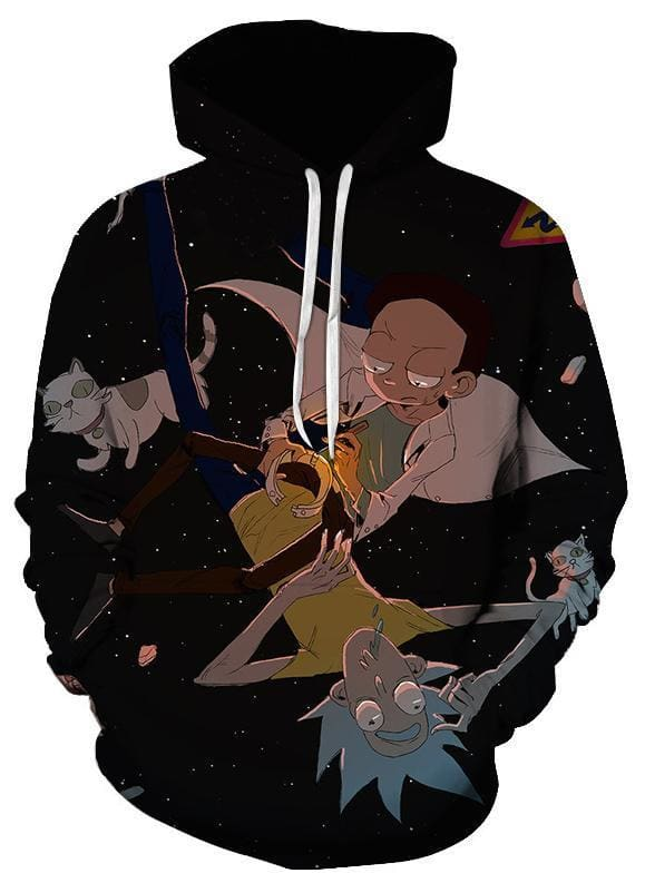 Rick and Morty Hoodie - Lost In Space - Anime Clothes