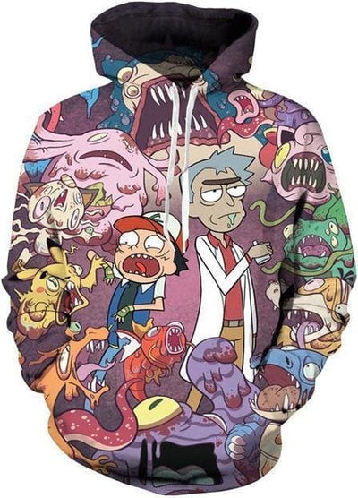 Rick and Morty Hoodie - Monster Trouble - Anime Clothes