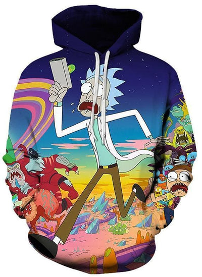 Rick and Morty Hoodie - Rick and Portal - Anime Clothes