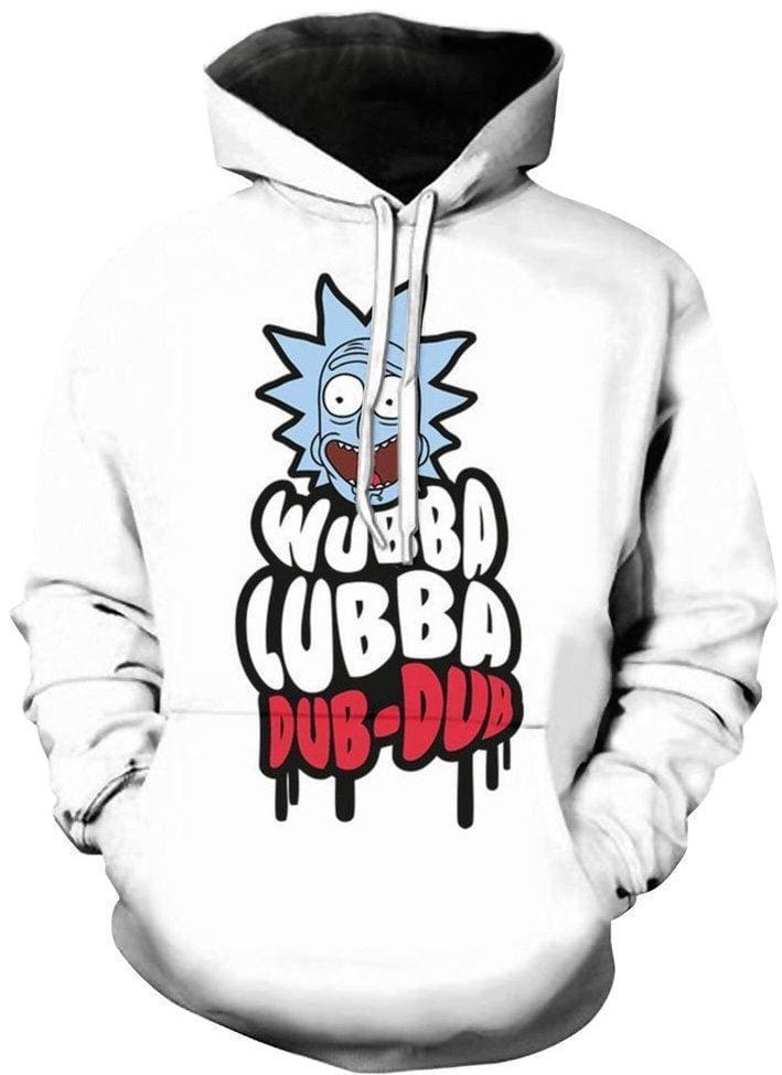Rick and Morty Hoodie - Wubba Lubba - Anime Clothing