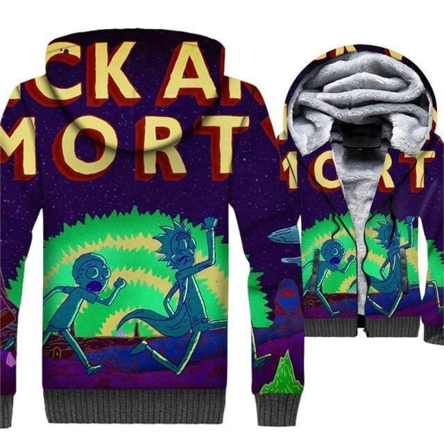 Rick And Morty Jackets - 3D Fleece Jacket - Anime Clothing
