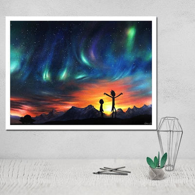Rick and Morty Merch - Aurora Northern Lights - Anime Wallpaper