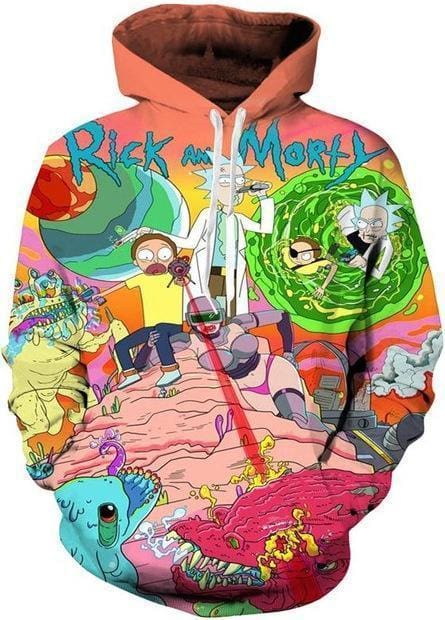 Rick and Morty Merch - Dimension Hoodie - Anime Clothes