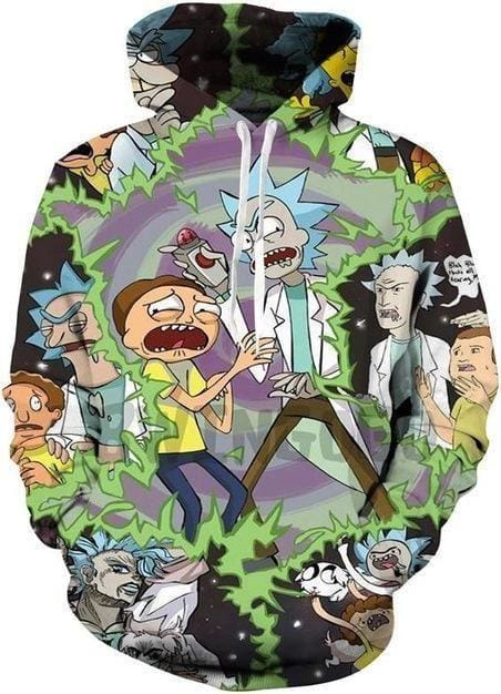 Rick and Morty Merch - Double Trouble Hoodie - Anime Clothing