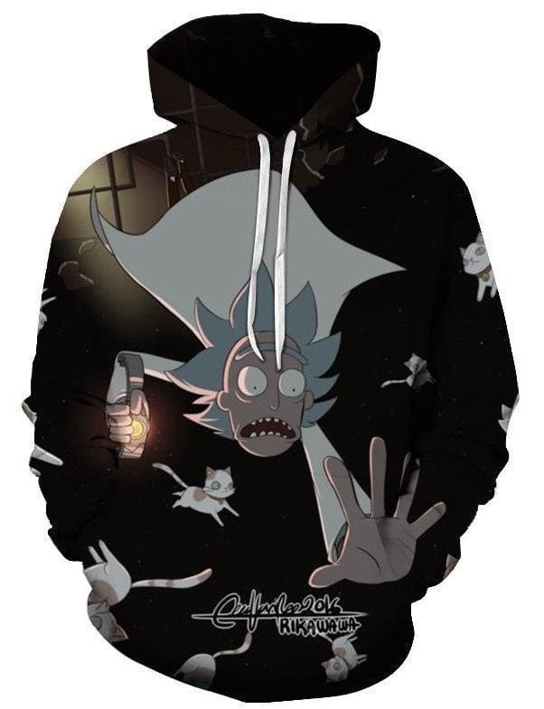 Rick and Morty Merch - Rick Falling - Anime Hoodies