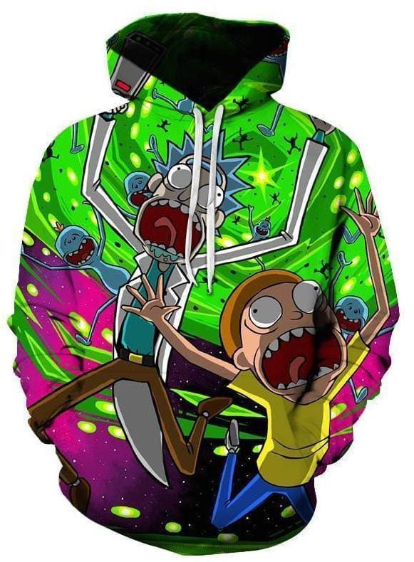 Rick and Morty Merch - Falling Through Portal - Anime Hoodies