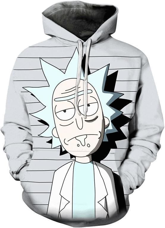 Rick and Morty Merch - Jail Time Hoodie - Anime Clothing