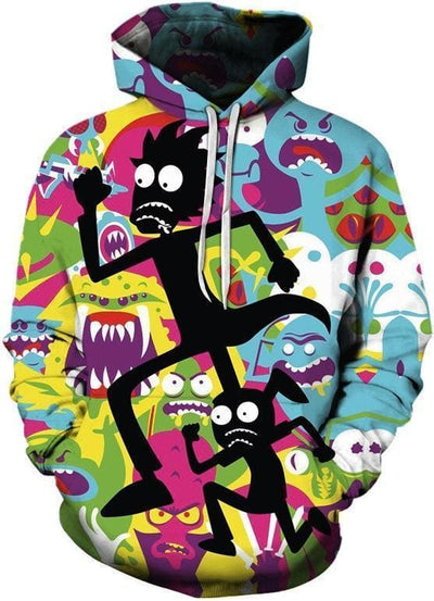 Rick and Morty Merch - Monster Time Hoodie - Anime Clothing