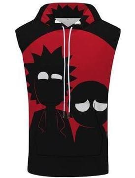 Rick and Morty Merch- Shadows Hooded Tank Top - Anime Clothes
