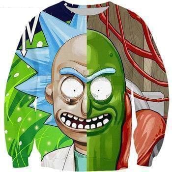 Rick and Morty Merch - Rick Two Face - Anime Clothes