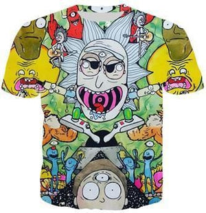 Rick And Morty Shirts - Rick Ahhh - Anime Clothes