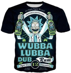 Rick And Morty Shirts - Beer Time Rick - Anime Clothes