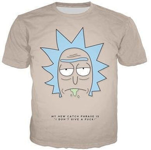 Rick And Morty Shirts - Rick Dont Give A Fuck - Anime Clothes