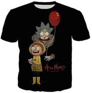 Rick And Morty Shirts - IT The Clown - Anime Clothes