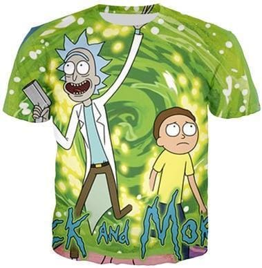 Rick And Morty Shirts - Portal Time - Anime Clothes