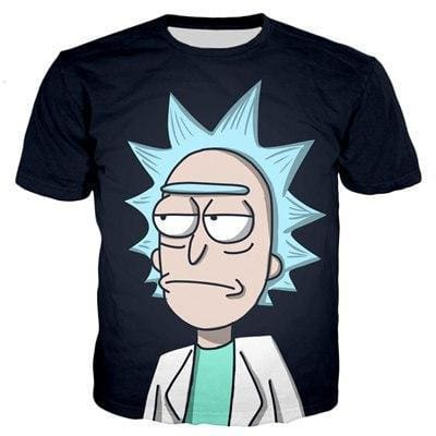 Rick And Morty Shirts - Serious Rick - Anime Clothes