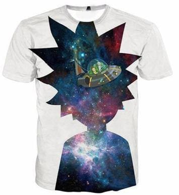 Rick And Morty Shirts - Shadow Space Rick - Anime Clothes