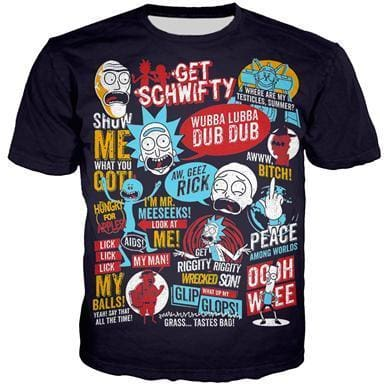 Rick And Morty Shirts - Slogans - Anime Clothes