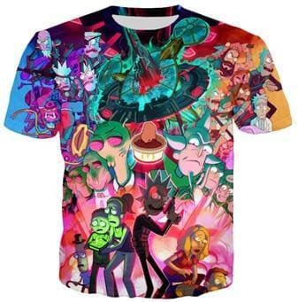 Rick And Morty Shirts - Space Time - Anime Clothes